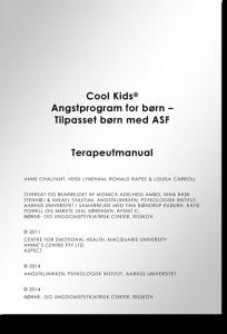 ASF Cool Kids Angstprogram - Terapeutens manual