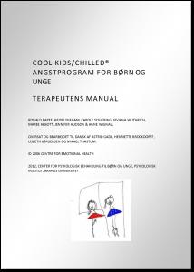Cool Kids/Chilled Angstprogram - Terapeutens manual