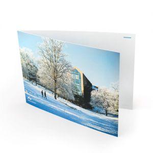 Julekort, Aula med sne A5, DK